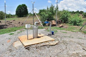 A borehole which provides clean drinking water